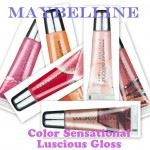 Maybelline luscious gloss collage