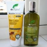 Dr Organic Royal Jelly Skin Lotion Virgin Olive Oil Shampoo