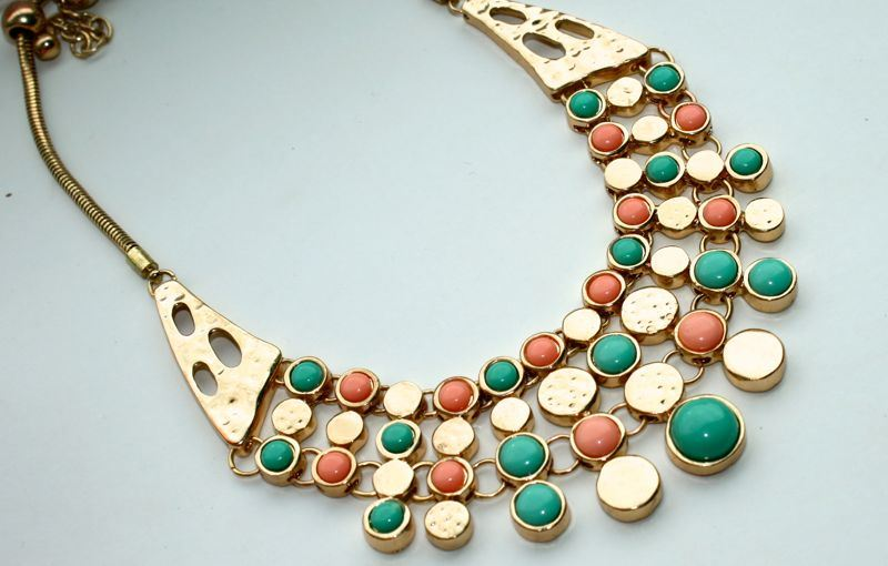 Shoplog Mallorca 2013 Statement Necklace turquoise koraal