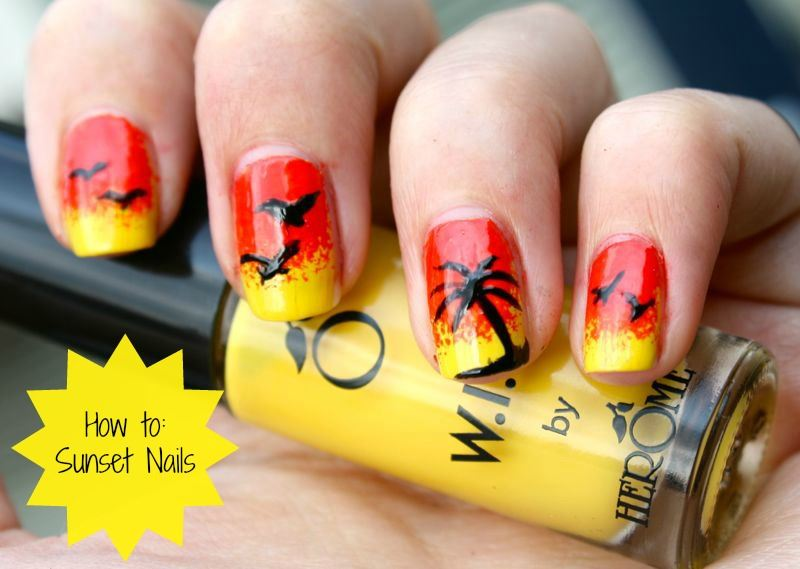 How To Sunset Nails Liefs Laura