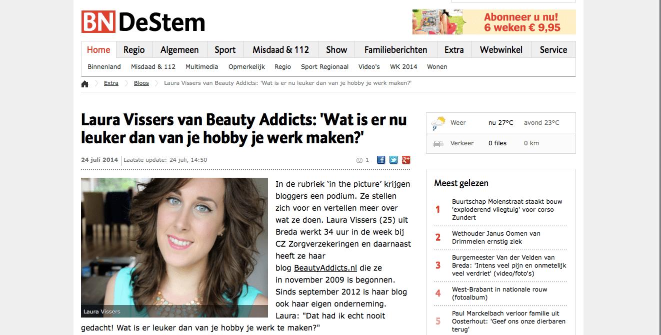Beauty Addicts op BN De Stem