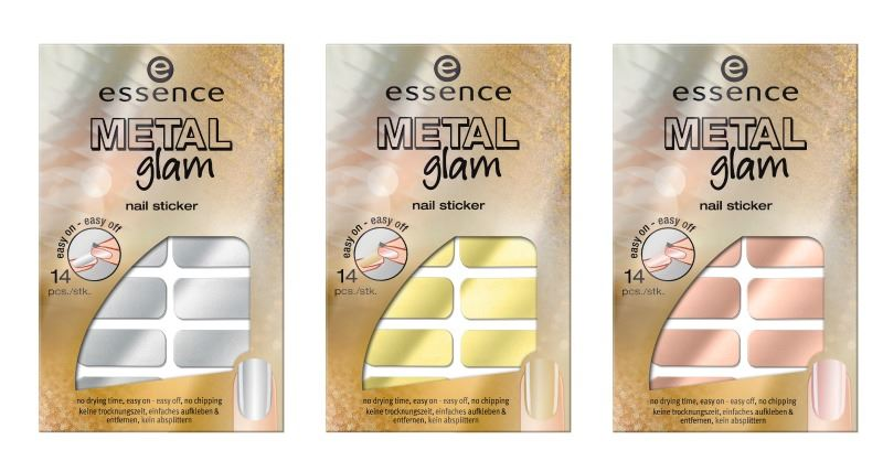 essence metal glam nail stickers