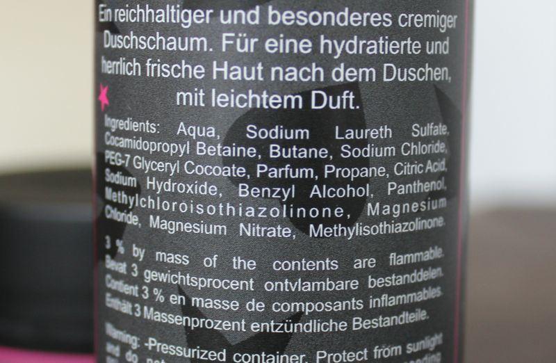 Fab. Beauty Sparkling Shower Foam ingredienten