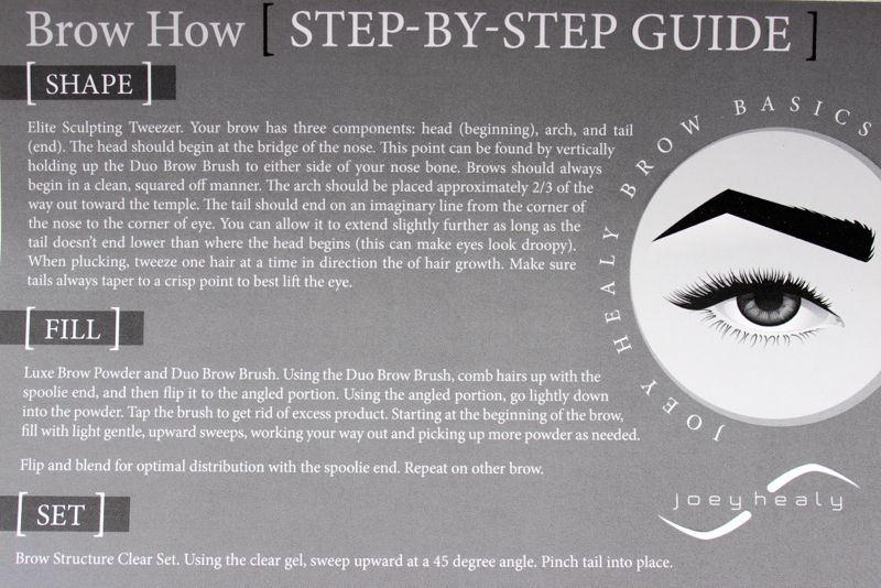 Joey Healy Brow Basics step by step