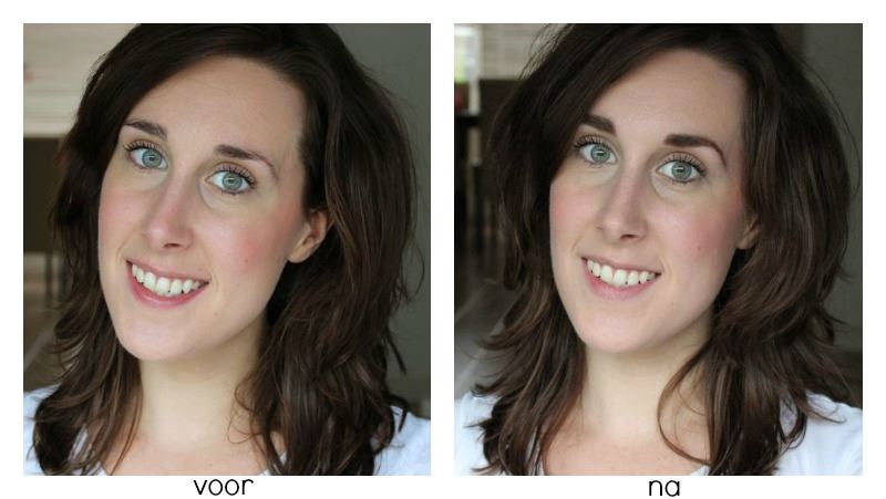 Joey Healy Brow Basics voor en na full face