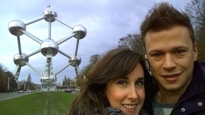 Brussel Atomium Selfie