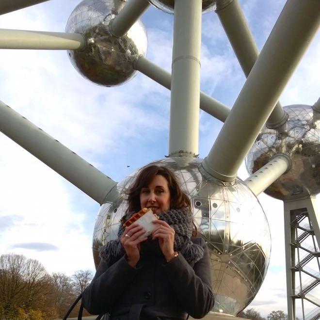 Brussel Atomium Wafel