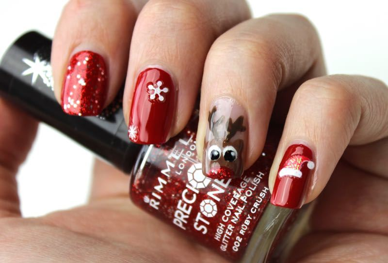 Rudolph Christmas Nails