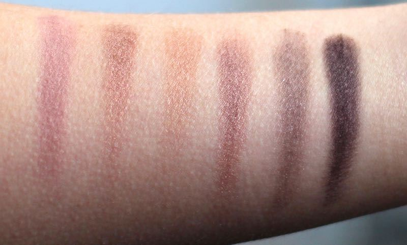 W7 In The Nude swatches