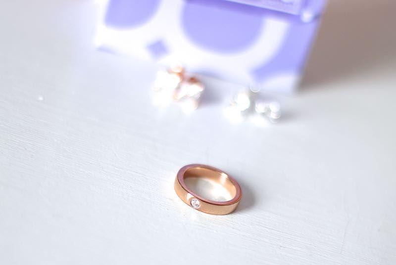 Lucardi rose gouden stalen ring zirkonia