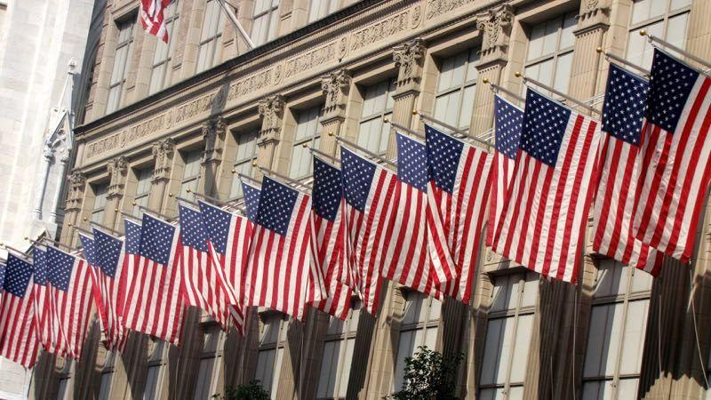 New York American Flags