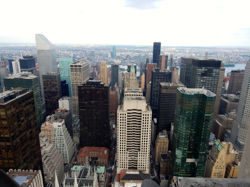 New York Top of The Rock view