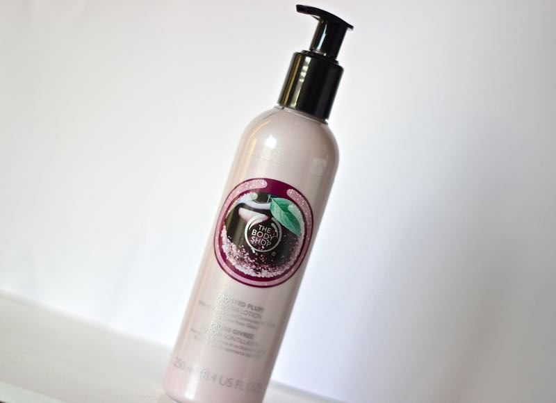 The Body Shop Frosted Plum shimmer lotion