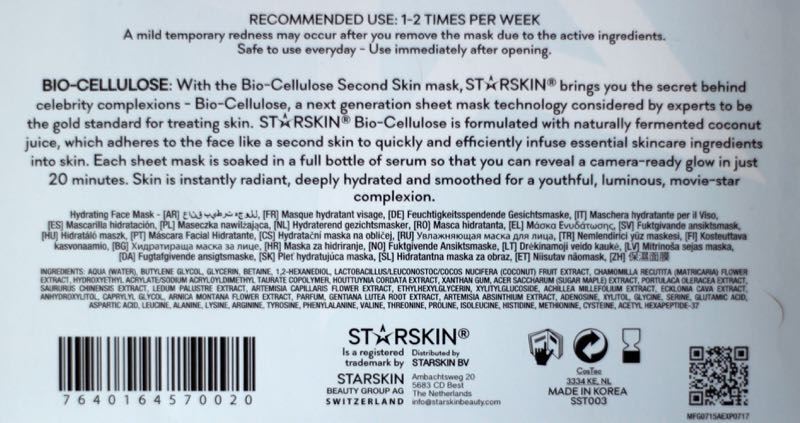 Starskin Red Carpet Ready ingredienten