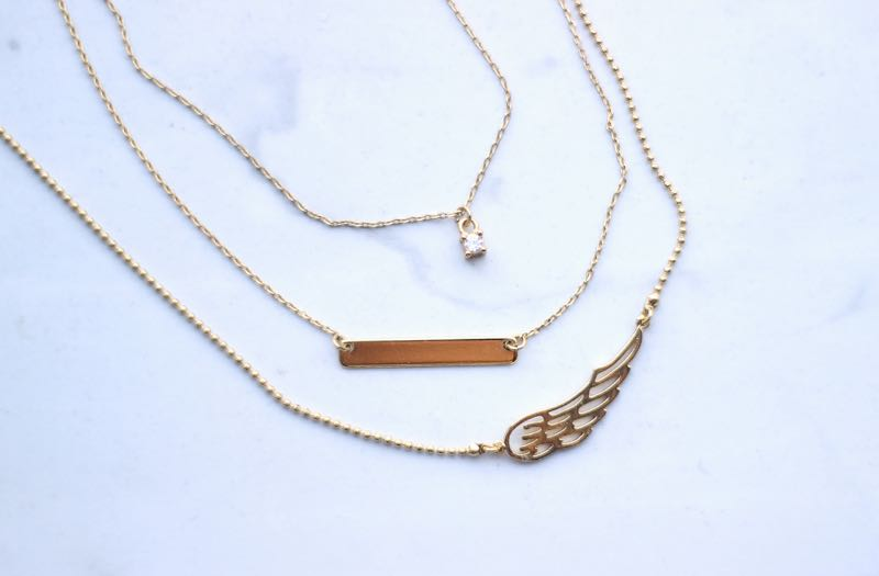 Orelia Memento Multi Row Necklace