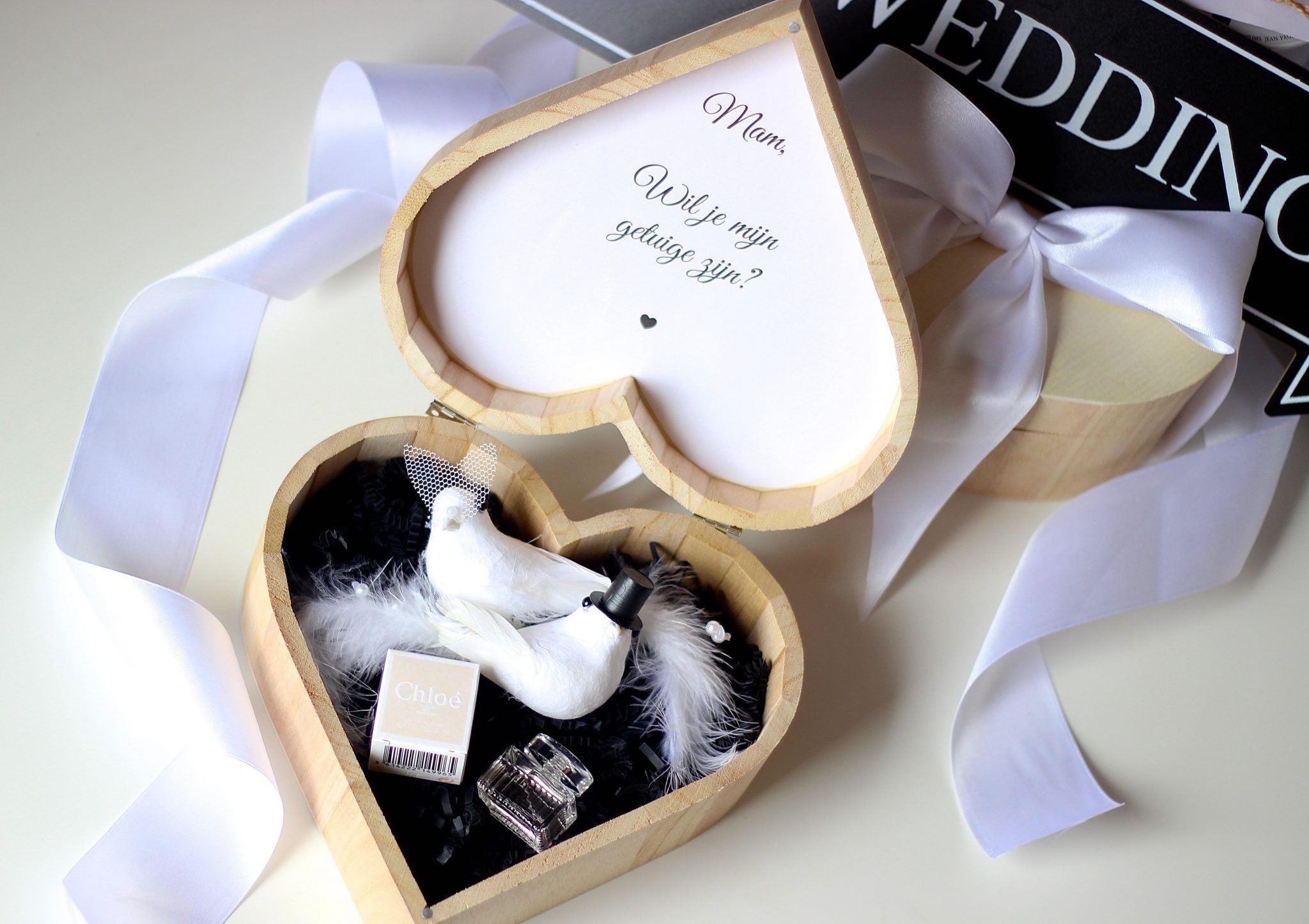 Getuigen vragen bruiloft cadeau