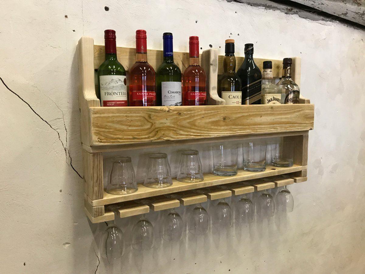 Wijnrek Combi Glazen