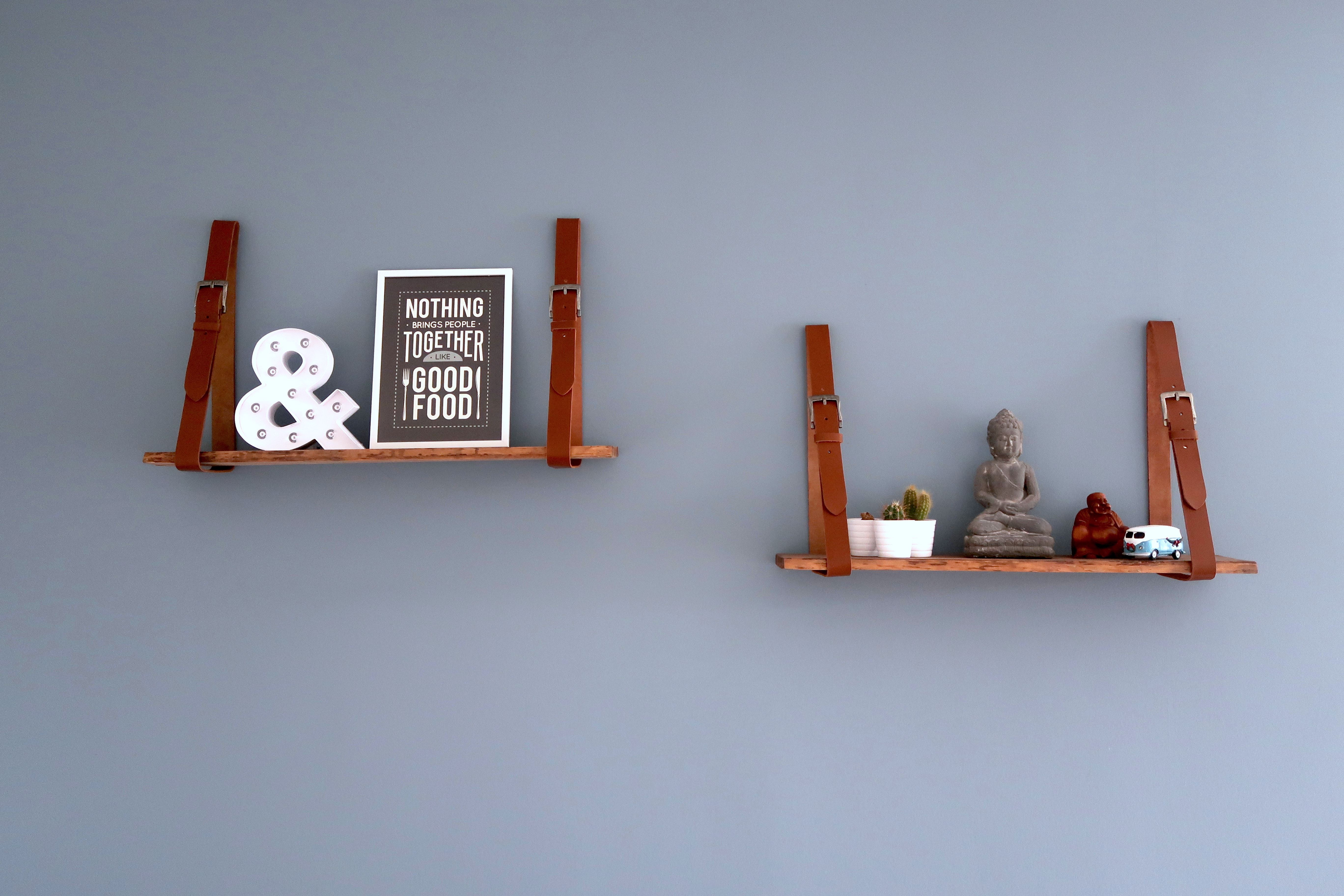 DIY Wandplank Riemen