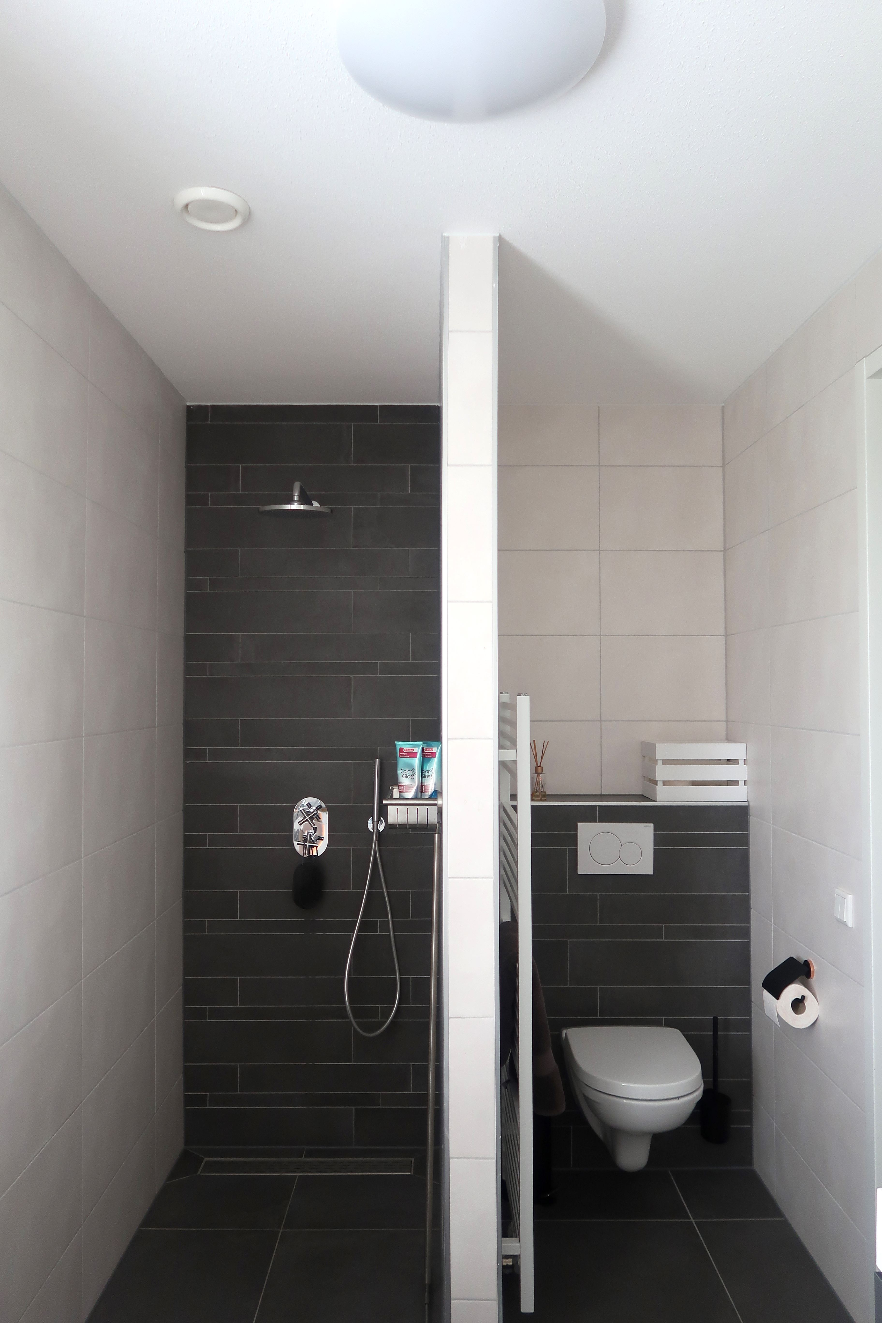 Onze nieuwe badkamer inloopdouche