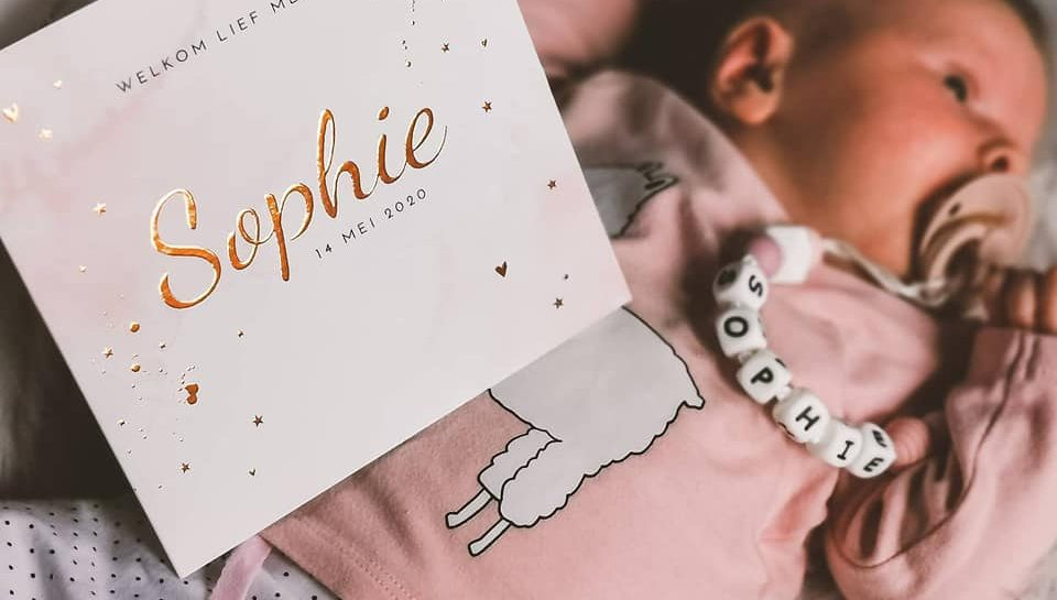 Geboortekaartje Sophie