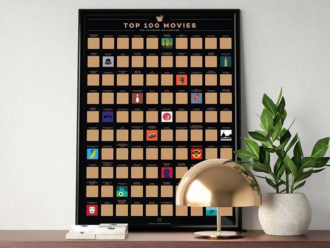 Cadeautip 100 Movies Scratch Off Poster