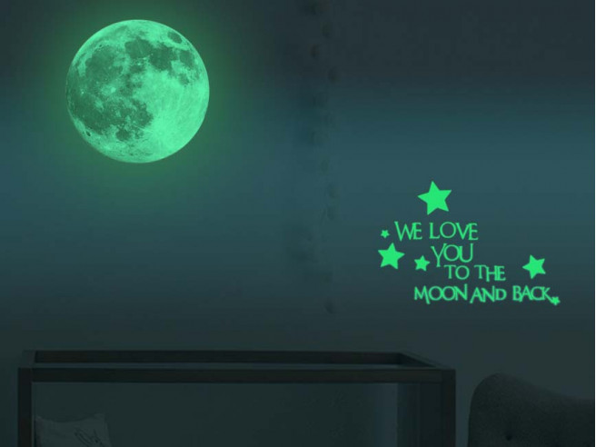 Cadeautip We Love To The Moon Sticker 30cm
